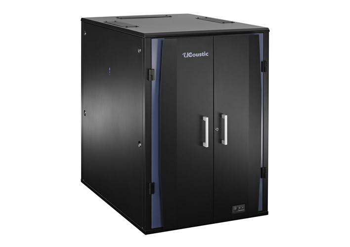 Ucoustic Active Soundproofed Quiet Rackmount 19in Cabinets