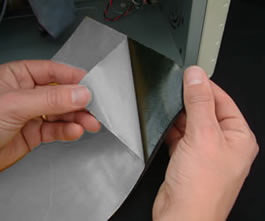 Peel off the adhesive backing paper