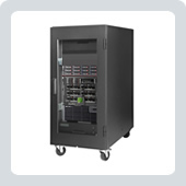 coustiRACK ACTIVE Range of Quiet 19-inch Rackmount Cabinets by Silentium. Image shows a 22U ARA cabinet.
