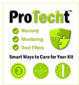 ProTECHT - warranty - monitoring - dust filters - smart ways to care for your kit